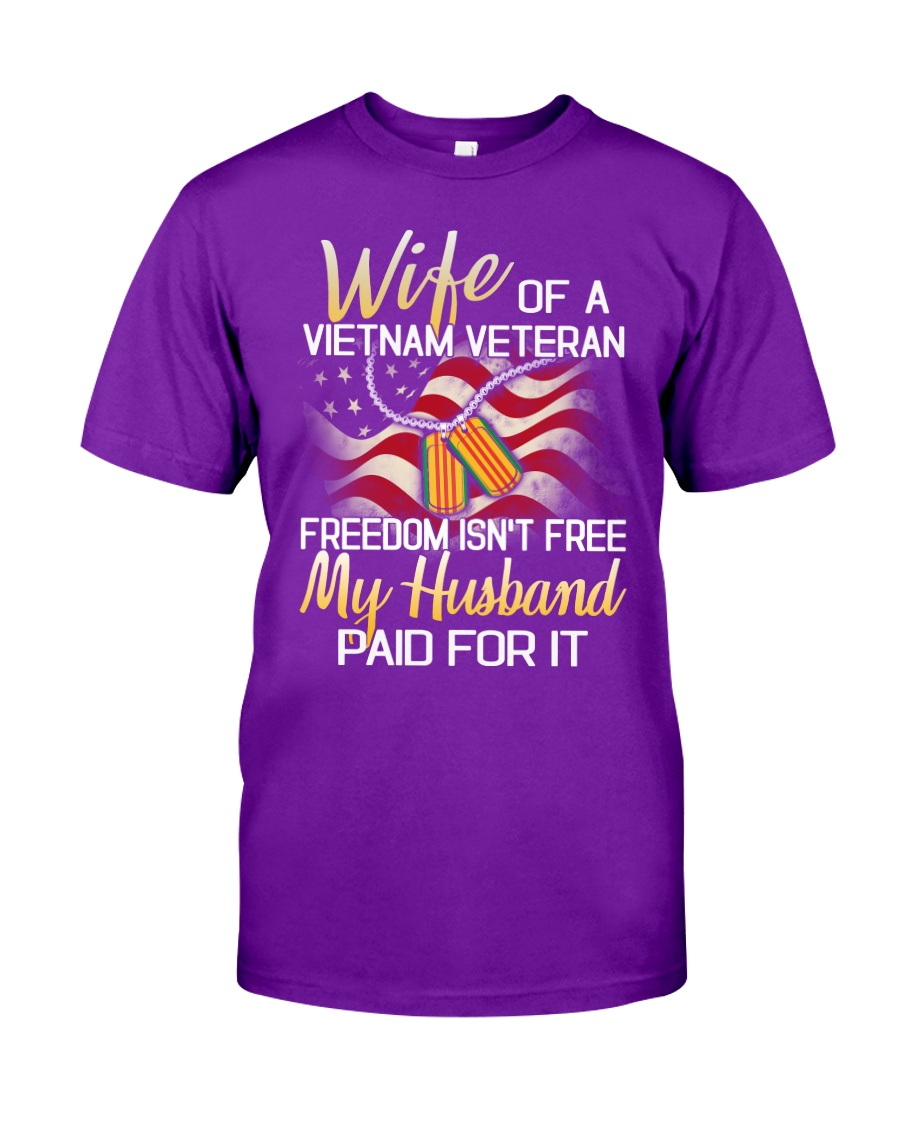 Wife Of A Vietnam Veteran Classic T-Shirt