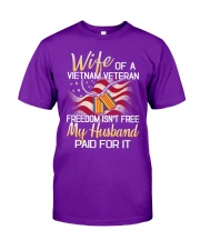 Wife Of A Vietnam Veteran Classic T-Shirt front
