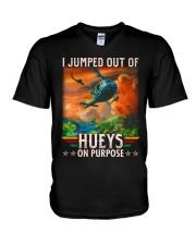 Jump Out Of Hueys V-Neck T-Shirt thumbnail