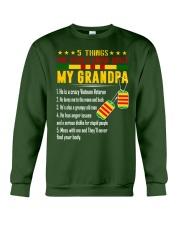 Vietnam Veteran Grandchildren-5things Crewneck Sweatshirt thumbnail