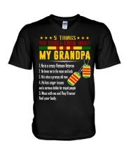Vietnam Veteran Grandchildren-5things V-Neck T-Shirt thumbnail