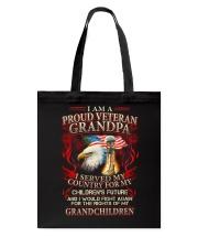 Proud Veteran Grandpa Tote Bag thumbnail