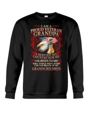 Proud Veteran Grandpa Crewneck Sweatshirt thumbnail
