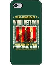 WWII Veteran Great-Grandson Phone Case thumbnail