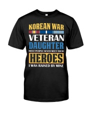 Korean War Veteran Daughter Classic T-Shirt front
