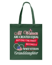 Finest Becomes WWII Veteran's Granddaughter Tote Bag thumbnail
