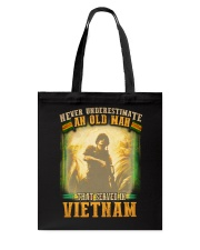 Old Man Served In Vietnam Tote Bag thumbnail