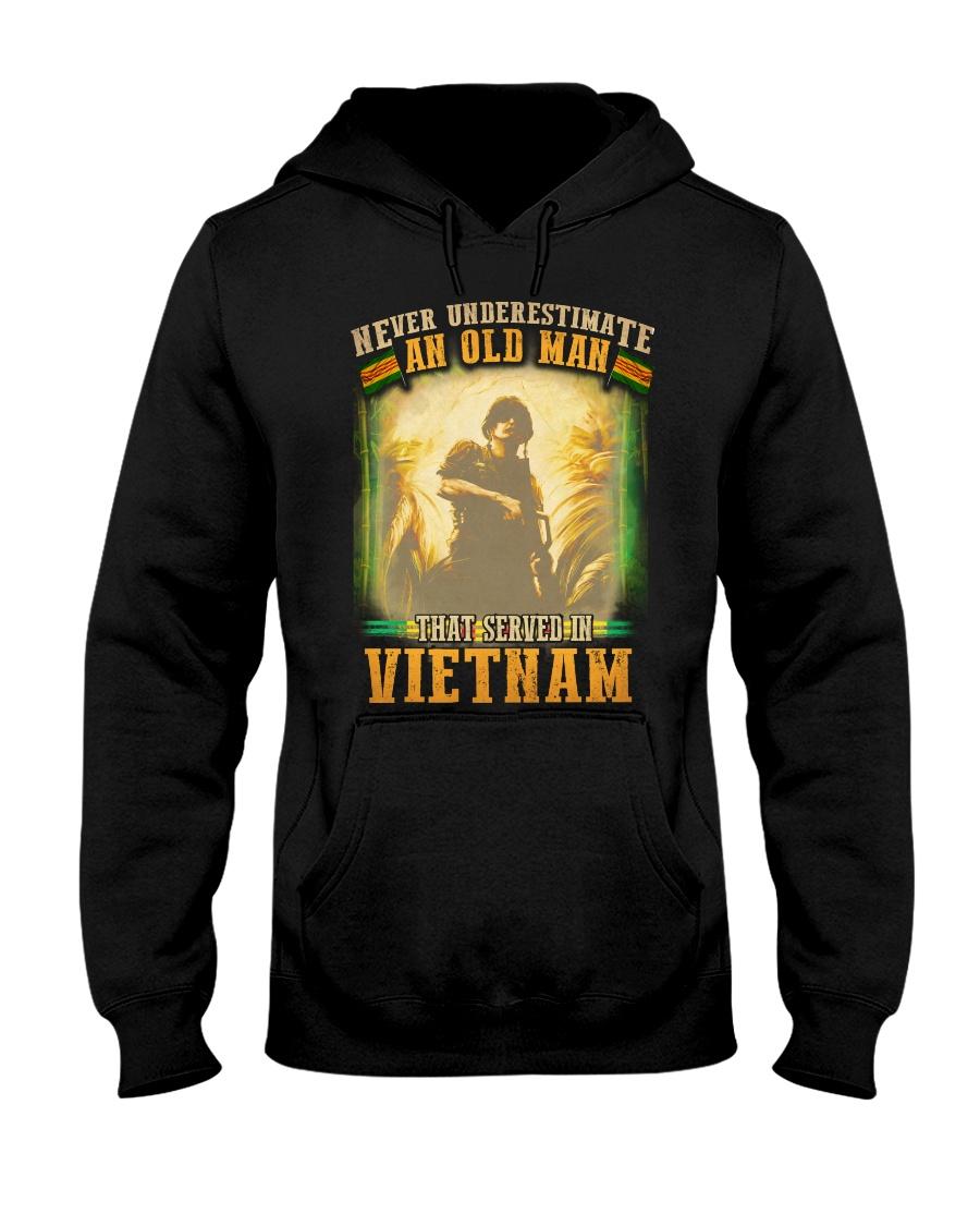 Old Man Served In Vietnam Hooded Sweatshirt