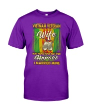 Vietnam Veteran Wife Married Their Heroes Classic T-Shirt front