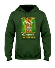 Vietnam Veteran Wife Married Their Heroes Hooded Sweatshirt thumbnail