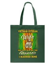 Vietnam Veteran Wife Married Their Heroes Tote Bag thumbnail