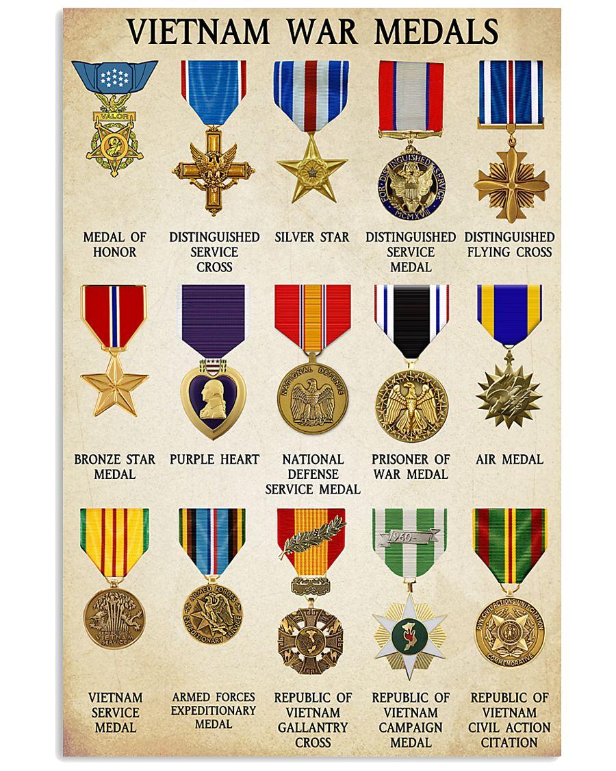 Vietnam War Medals 11x17 Poster
