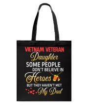 My Dad-Vietnam Veteran Daughter Tote Bag thumbnail