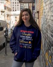 My Dad-Vietnam Veteran Daughter Hooded Sweatshirt lifestyle-unisex-hoodie-front-1