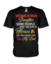 My Dad-Vietnam Veteran Daughter V-Neck T-Shirt thumbnail