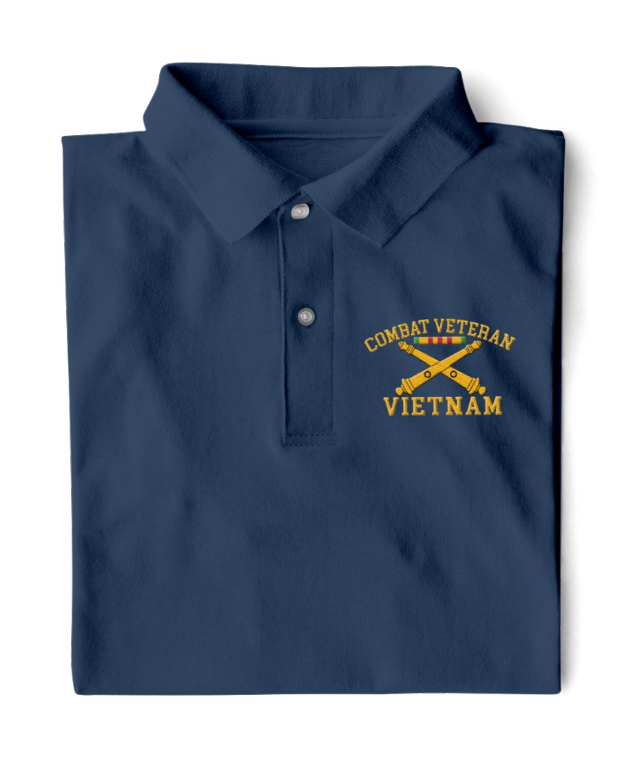 Combat Veteran Vietnam-Artillery Classic Polo
