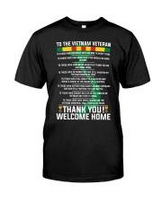 Thank You Vietnam Veterans Classic T-Shirt front