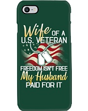 Wife Of A US Veteran Phone Case thumbnail
