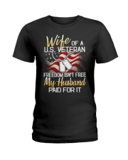 Wife Of A US Veteran Ladies T-Shirt thumbnail