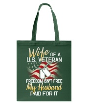 Wife Of A US Veteran Tote Bag thumbnail