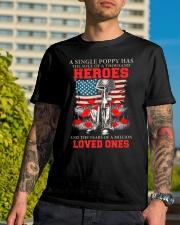 A Single Poppy Classic T-Shirt lifestyle-mens-crewneck-front-8