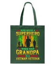 Vietnam Veteran Grandpa-Superhero Tote Bag thumbnail