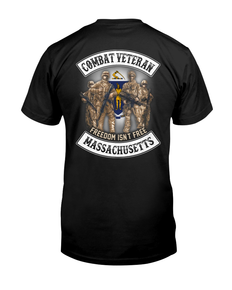 Massachusetts Combat Vet Classic T-Shirt