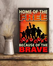 Because Of The Brave 16x24 Poster lifestyle-poster-3