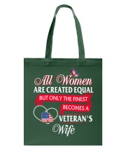 The Finest Becomes A Veteran's Wife Tote Bag thumbnail