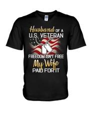 Husband Of A US Veteran V-Neck T-Shirt thumbnail