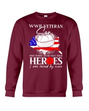 I Was Raised- WWII Sailor Veteran Son Crewneck Sweatshirt thumbnail