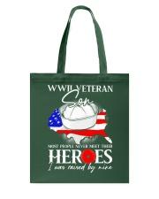 I Was Raised- WWII Sailor Veteran Son Tote Bag thumbnail