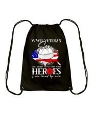 I Was Raised- WWII Sailor Veteran Son Drawstring Bag thumbnail
