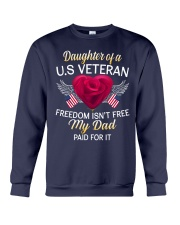 Daughter Of A US Veteran-Dad Paid Crewneck Sweatshirt thumbnail