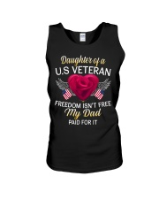 Daughter Of A US Veteran-Dad Paid Unisex Tank thumbnail