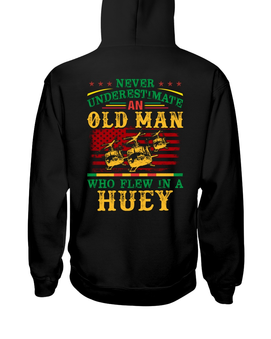 Flew In A Huey Hooded Sweatshirt