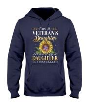 US Veteran Daughter-Cooler Hooded Sweatshirt front