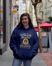 US Veteran Daughter-Cooler Hooded Sweatshirt lifestyle-unisex-hoodie-front-2