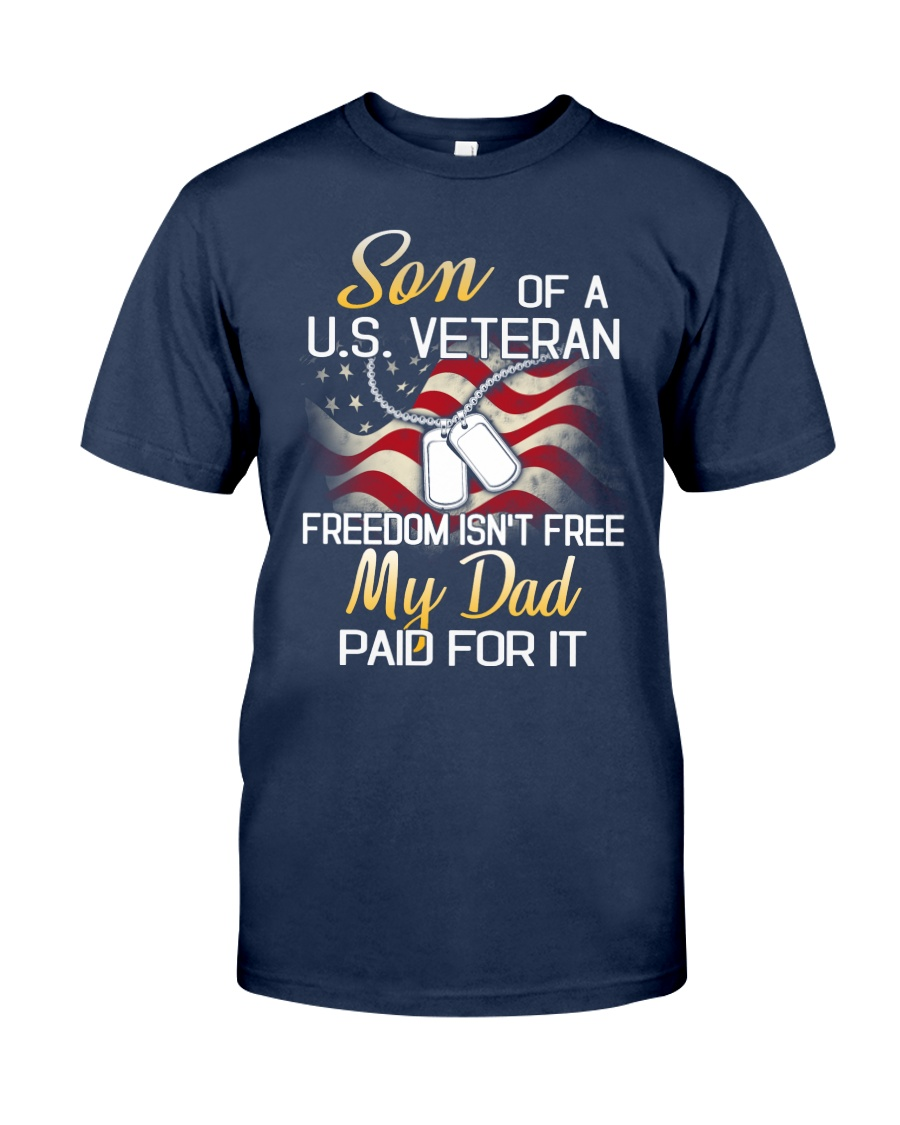 Son Of A US Veteran Classic T-Shirt