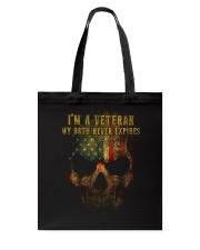 Veteran Oath Never Expires Tote Bag thumbnail