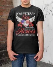 WWII Veteran Son-Hero Classic T-Shirt apparel-classic-tshirt-lifestyle-31