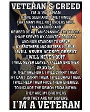 Veteran's Creed 16x24 Poster front
