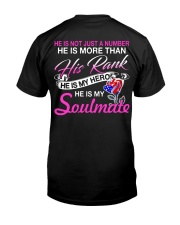 Veteran's Wife Soulmate Classic T-Shirt back