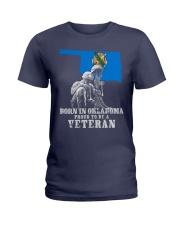 Born In Oklahoma Ladies T-Shirt thumbnail