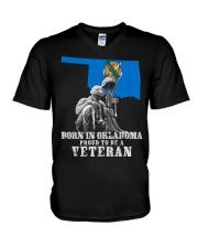 Born In Oklahoma V-Neck T-Shirt thumbnail