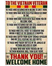 Thank You-Welcome Home 11x17 Poster front