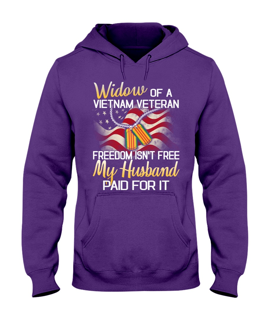 Widow Of A Vietnam Veteran Hooded Sweatshirt