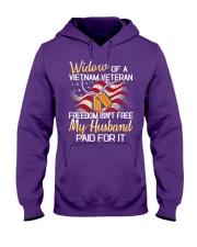 Widow Of A Vietnam Veteran Hooded Sweatshirt front