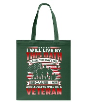 Live By This Oath Tote Bag thumbnail