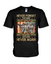 Never Again V-Neck T-Shirt thumbnail